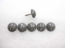 250 Granite grey speckled upholstery nails 16mm head Special H16 Heico stud tack